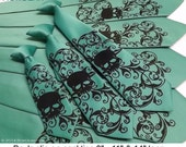 7 Skull Neckties - 5 mens neckties and 1 boys necktie and 1 boys bow tie.