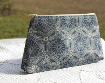 Dusty Gray Blue - Cosmetic Pouch