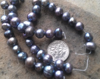 10 Gray  Freshwater Pearls
