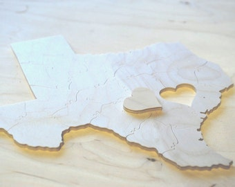 Puzzle Wedding Guest Book, 30 Wood Pieces, Choose a Shape