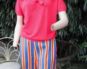 Vintage 1950s/60s Bermuda Shorts / Stripe Shorts / WALKING SHORTS
