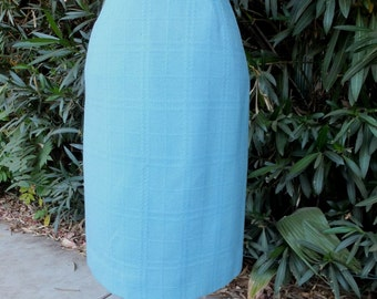 Vintage Wiggle/Pencil Skirt  / Robin's Egg Blue Pencil Skirt / 24 Waist