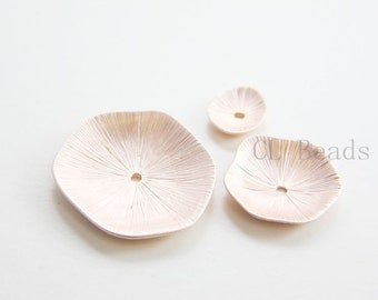 One Set Matte Rose Gold Plated Base Metal  Findings-Disk (3 Pieces / Set) (47C-S-199)