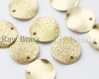 40pcs Raw Brass Waved Stardust Disc - 10mm (1706C-T-74)