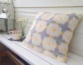 Daisy Cushion Cover PDF Knitting pattern