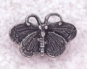 Green Girl Studios Large Butterfly Pewter Button