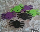 Large Halloween Spider Buttons