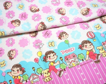 Licensed Peko Chan print Japanese Fabric fat quarter ©fujiya