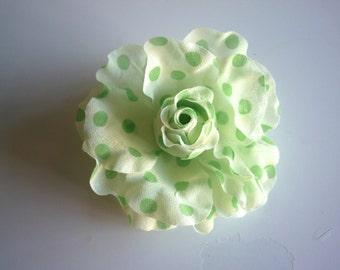 POLKA DOT  Flower ,  Lime Green, Light green  /  FL - 05