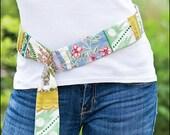 Hankie Belt Digital Sewing Pattern PDF - create several lengths of fashionable belt with recycled vintage or new hankies