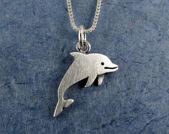 Tiny dolphin necklace / pendant