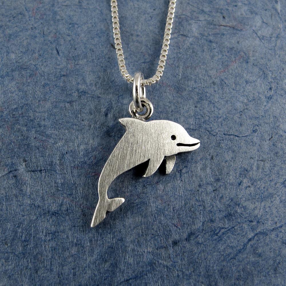 tiny dolphin necklace pendant