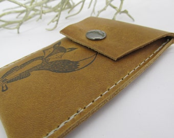 leather snap card wallet small pouch pocket