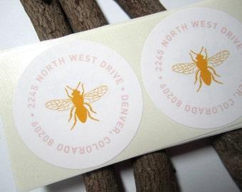 Return Address Labels - Bee (100 qty)