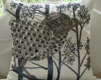 Popular items for white silk pillow on Etsy