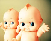 """ONE Vintage Kewtie Kewpie Doll,  8"""" TaLL Rubber Baby Doll With Poseable Arms, Legs and Head"""