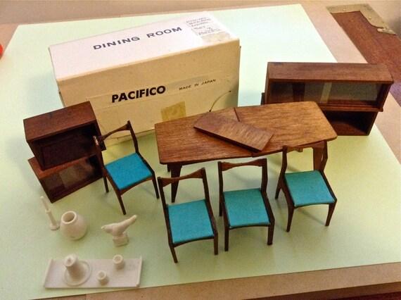 Vintage Miners Industries Japan Mid Century Modern Dollhouse