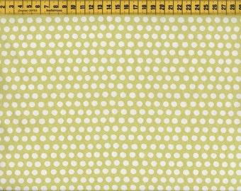 Monaluna Fabrics • Taali • Dotty kiwi • Organic Cotton Fabric 001661