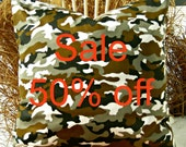 Modern Camouflage Pillow Cover - Sale 50% off