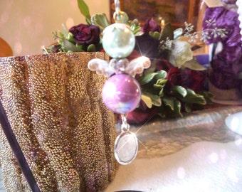 AVA  A Fairy Ornament, rear view mirror jewel, Suncatcher, Purse Charm, car gem