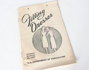 Vintage 1950's Fitting Dresses USDA Booklet Farmers' Bulletin No. 1964