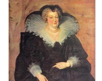 Marie de Medici by Peter Paul Rubens - an Original, Vintage 1954 Frameable Art Print