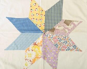 Vintage Quilt Top Pillow Sham