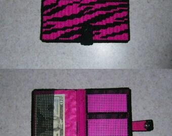 Pink Zebra Wallet PATTERN ONLY