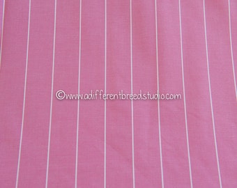 Pretty Pink Pinstripe  - Vintage Fabric New Old Stock Chambray Shirting