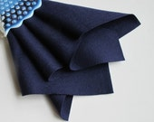 Wool Felt, Midnight Blue, Choose Size, Felt Fabric, Large Felt Square, 100% Wool, Washable Felt,  1mm Thick, Dark Blue Felt, Wool Applique