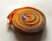 Hand Dyed Shoe Laces (45 inch length) Butterscotch