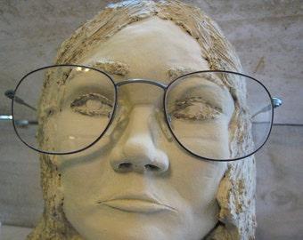 Vintage 1980s Unisex  Eyeglasses Frame Gunmetal Grey Fafilo