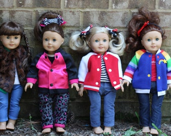 The Spirit Jacket PDF Sewing Pattern Sized for 15 and 18 inch dolls