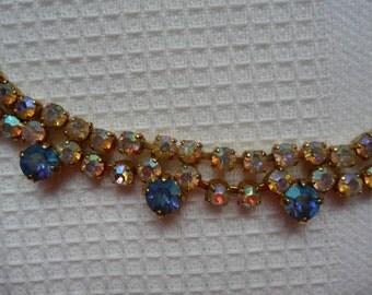 Aurora Borealis Rhinestone Necklace REDUCED PRICE