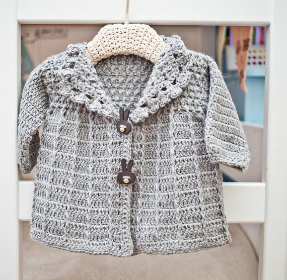 Instant download - Crochet Cardigan PATTERN (pdf file) - Baby (Toddler) Jacket