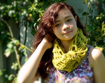 Chartreuse Infinity Scarf Perfect for Fall or Winter
