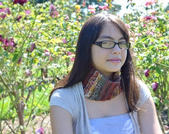 Colors of Autumn Pull-Over Cowl Perfect for Fall or Winter