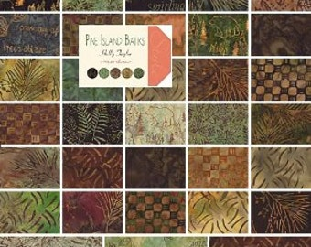Batik Charm Pack 40 Pieces Pine Island by Holly Taylor