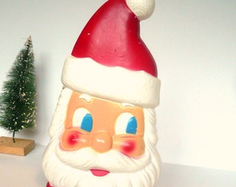 Vintage Santa Claus Lighted Blow Mold Double Sided Santa Decoration Christmas Santa Claus