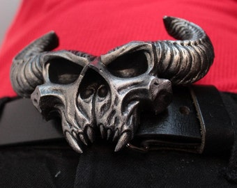 DANZIG demon skull belt buckle - Mark II