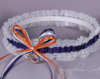 Chicago Bears Lace Wedding Garter - Ready to Ship
