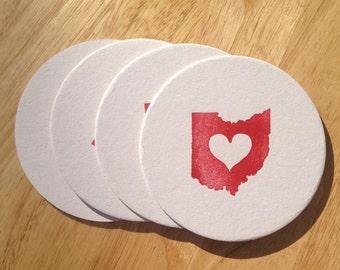 Ohio Coasters Set of 4