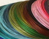 20 1/2 inch Necklace Wires screw clasp color coated cable wires quantity 10