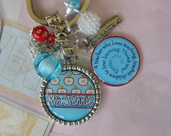 Personalized Teacher's Keychain, end of year gift