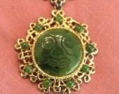 Vintage Swoboda sun face necklace
