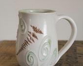SALE Fern Fiddlehead Coffee Tea Mug by Bunny Safari