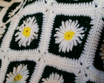 daisy squares afghan