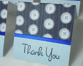 Blue Buttons Mini Thank You Cards 2x2 (6)