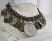 SALE Vintage European Coin Statement Necklace from WORTH ( was 105)