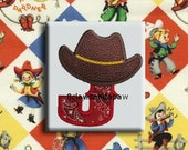 Cowboy Applique Font Embroidery Design 4 Sizes